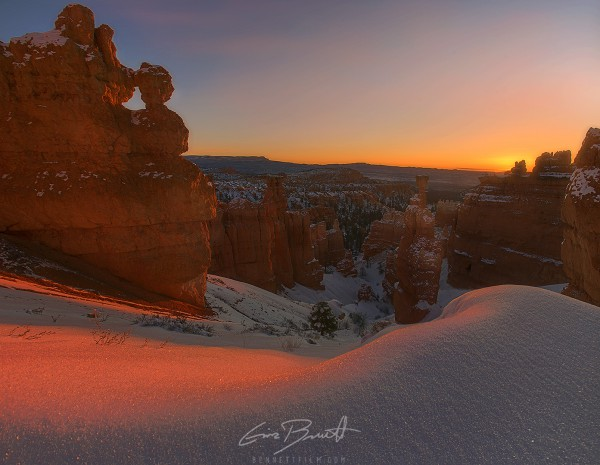 Sunrise after a blizzard, Bryce Canyon NP, UT