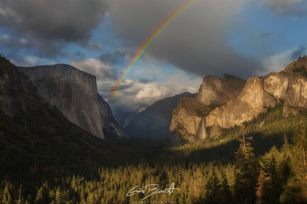 Rainbow in the valley after a storm, Yosemite NP, CA