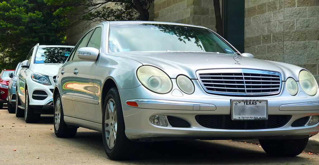 Mercedes Benz cars in traffic