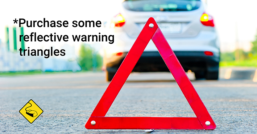 Car Care Tip: Purchase reflective warning triangles