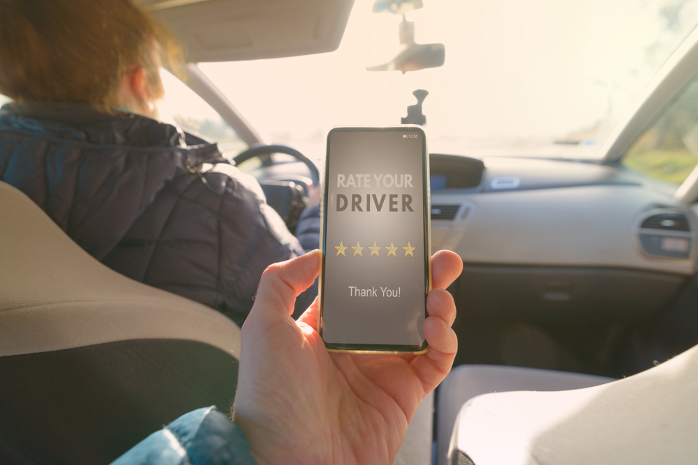 Rating an uber or lyft driver