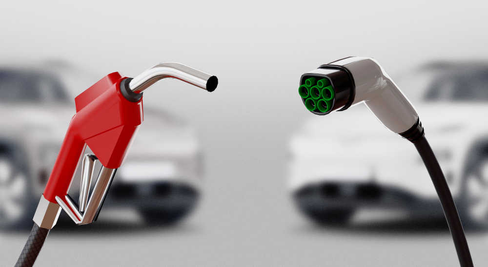 Gas pump and electric charger